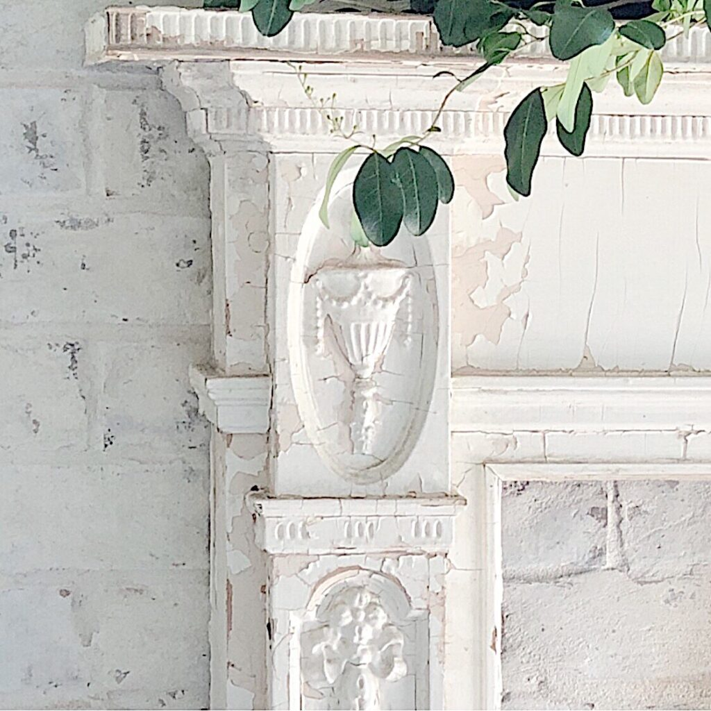 thrifted fireplace mantel