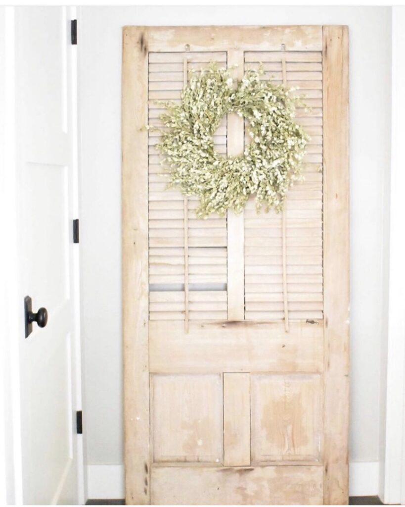 vintage shutter door