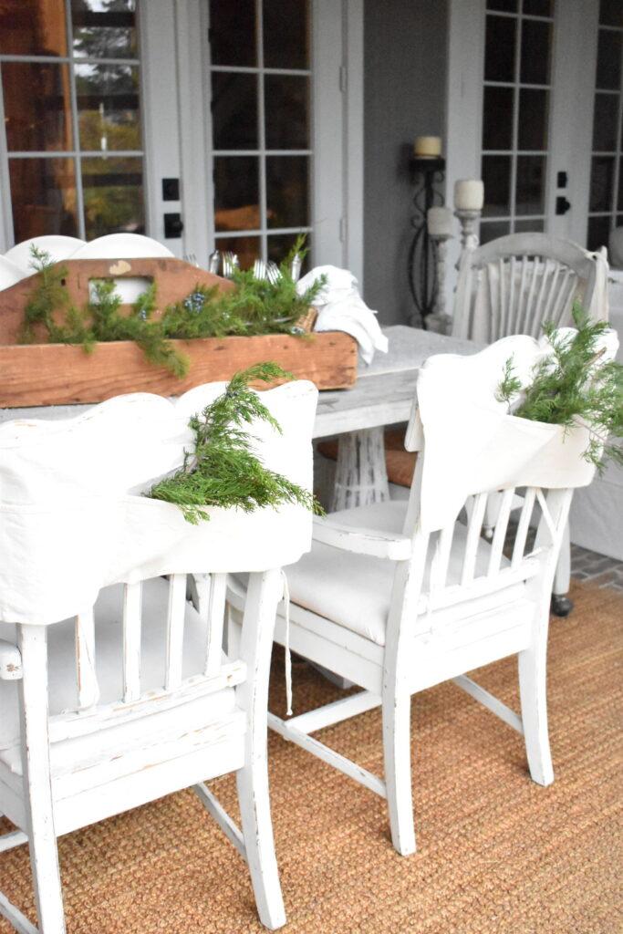 Farmhouse Porch Christmas decor