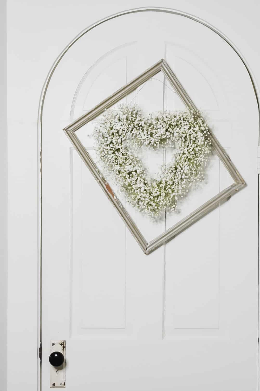 Heart Wreath with Baby's Breath