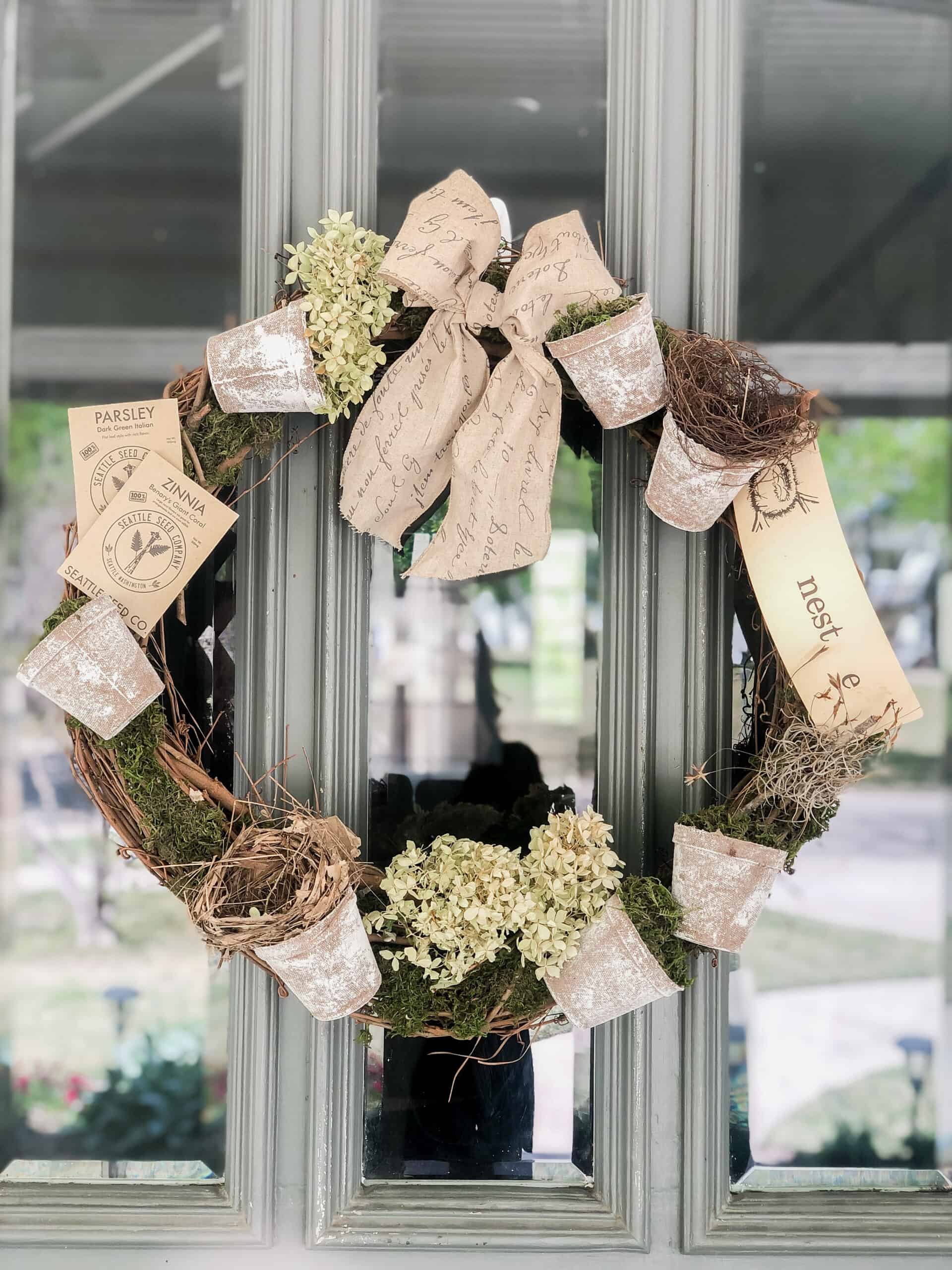 spring inspired wreath