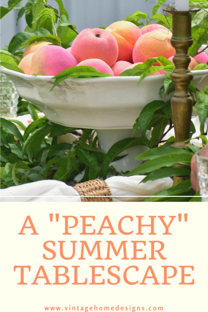 peachy summer tablescape