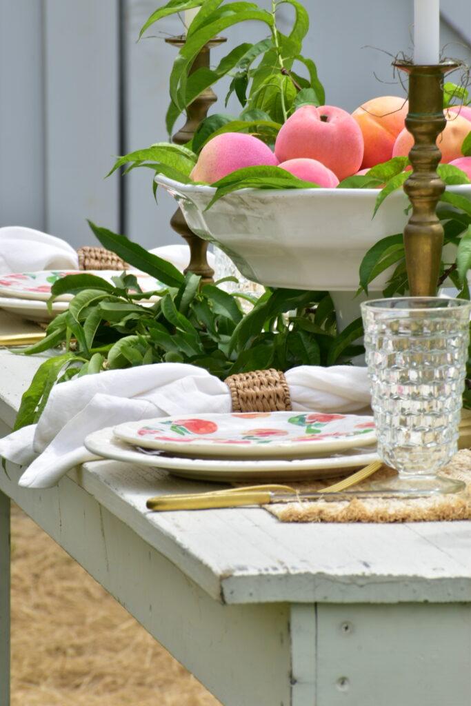 peach theme dinner party
