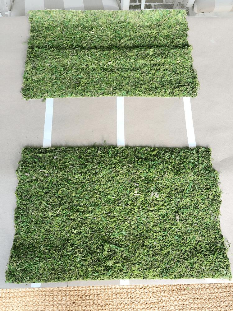 moss runner cut into place mats