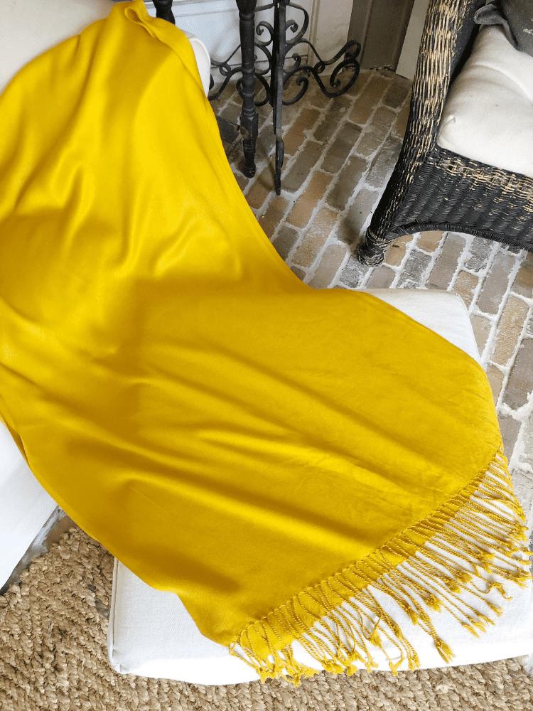 yellow gold pashmina scarf