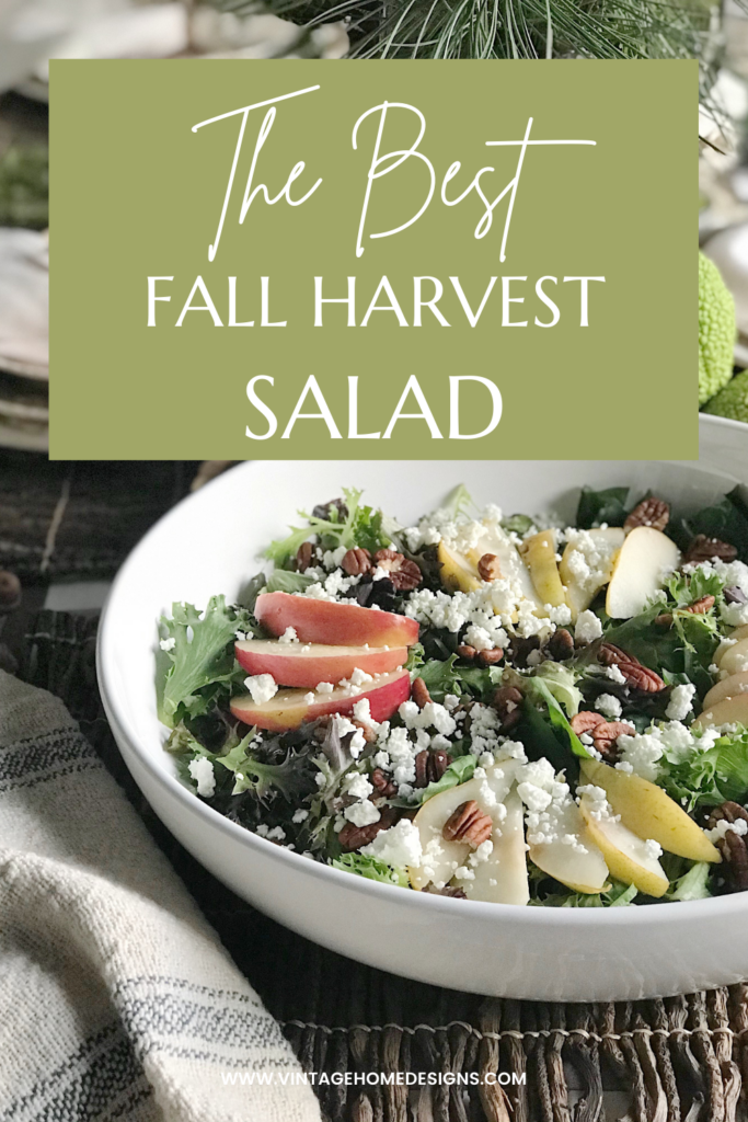 pinterest graphic for the best fall harvest salad
