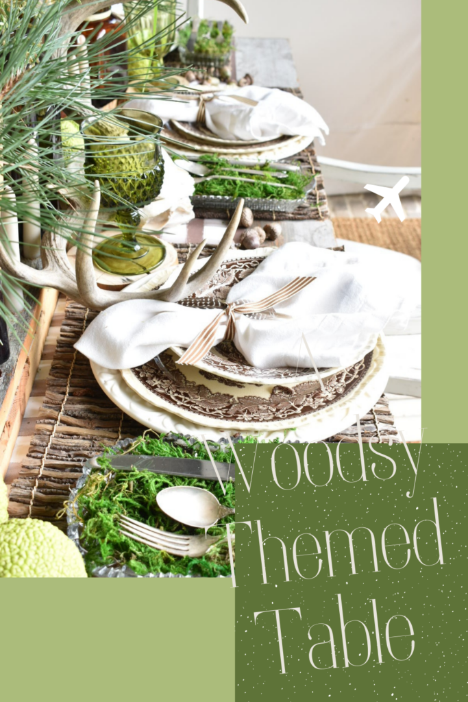 A Woodsy Fall Tablescape Pinterest Pin
