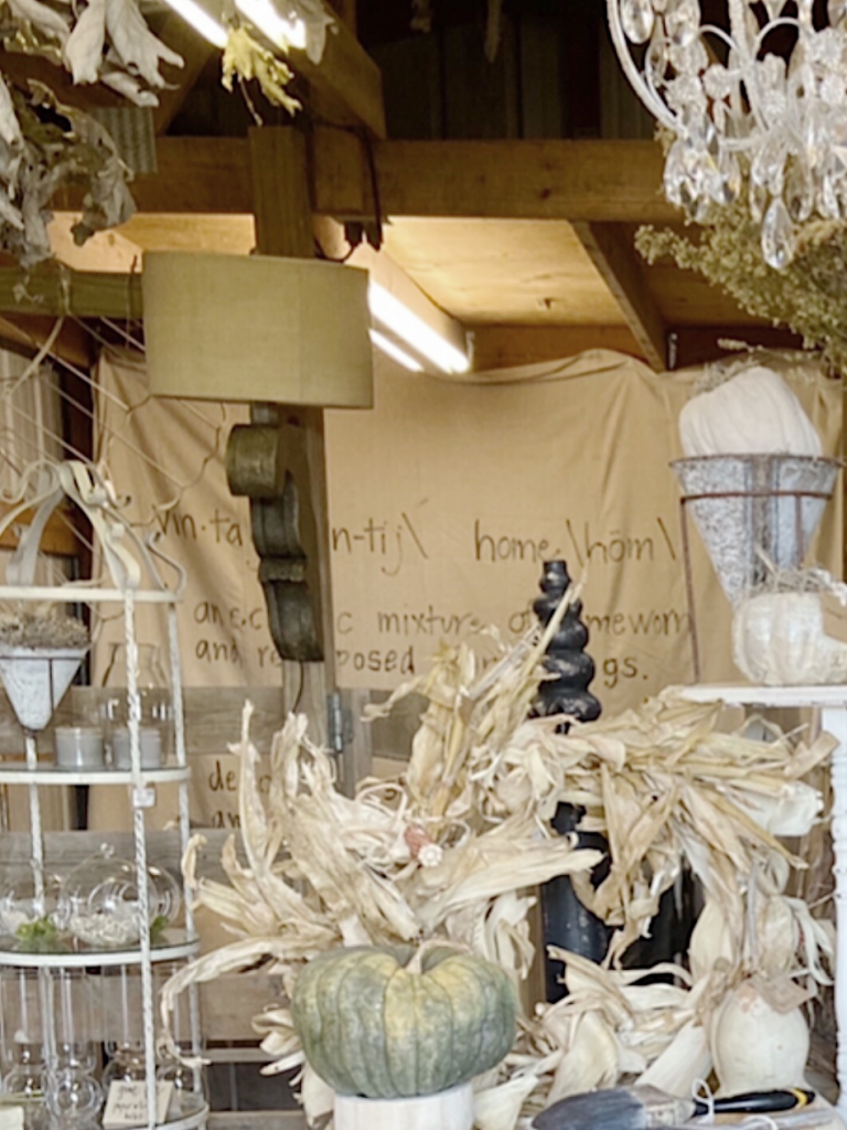 fall barn sale dropcloth sign backdrop